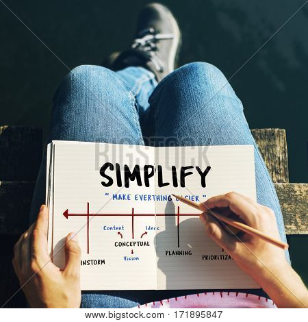 Simplify Brainstorming Planning Vision Arrow