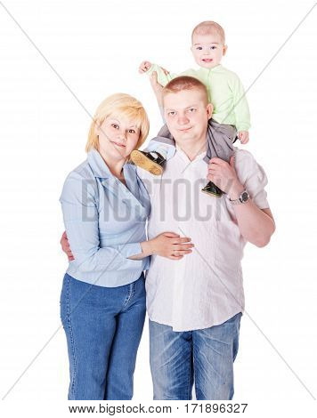 Three People Family