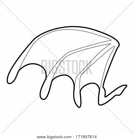 Bat wing icon. Outline illustration of bat wing vector icon for web