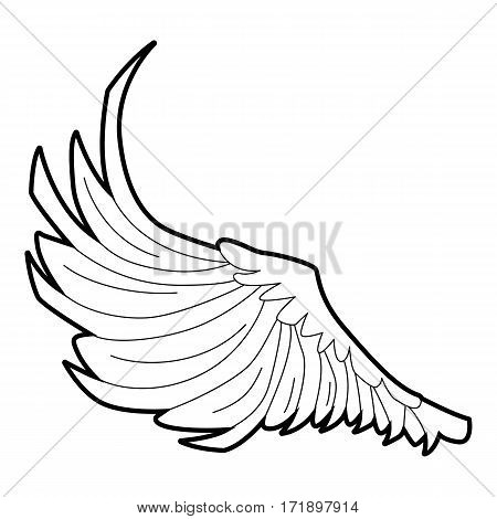 Bird big wing icon. Outline illustration of bird big wing vector icon for web