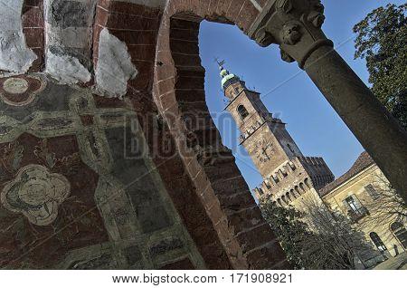Castle of Vigevano with views of Torre del Bramante