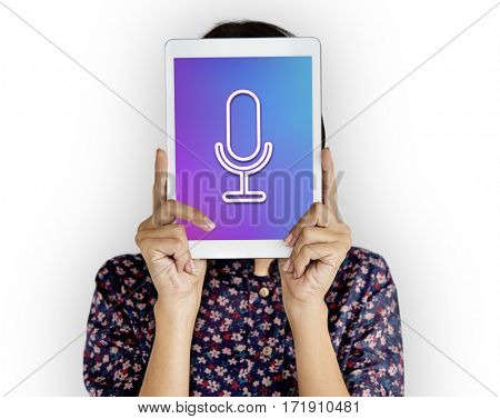 Multimedia Entertainment Microphone Button Interface