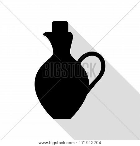 Amphora sign illustration. Black icon with flat style shadow path.
