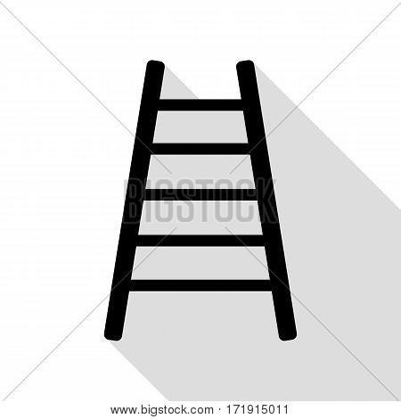 Ladder sign illustration. Black icon with flat style shadow path.
