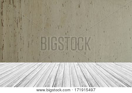 Wood Texture Background With Wood Terrace
