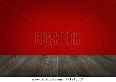 Fabric Texture Background With Wood Terrace