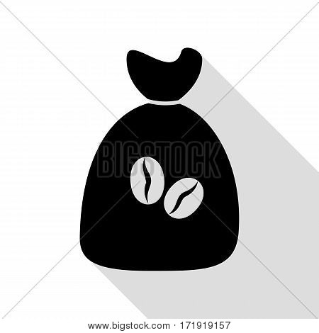 Coffee bag Icon. Coffee bag Vector. Coffee bag Icon Button. Black icon with flat style shadow path.