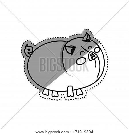 Pig farm animal icon vector illustration graphic design