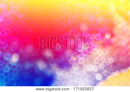 Defocused abstract beautiful color bokeh on background