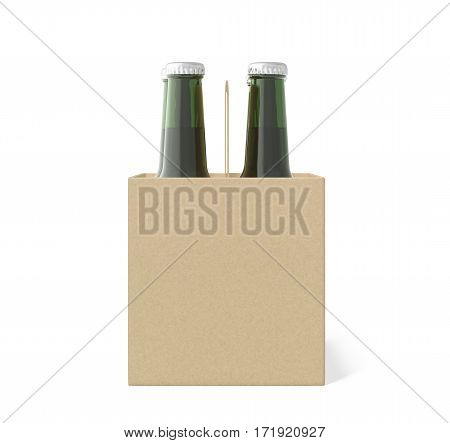 Six Bottles Cardboard Blank Beer Packaging