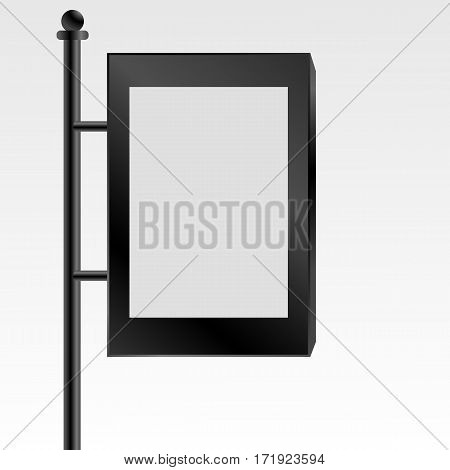 Black Mock Up Empty Bilboard Vector Illustration Eps 10