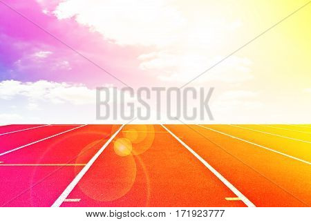 Abstract running track with color filter background