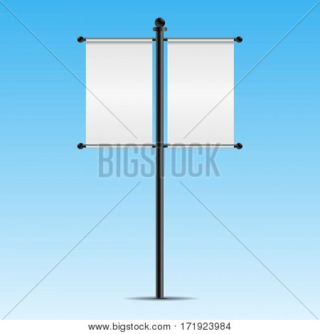 Empty Two Mock Up  Bilboard Vector Illustration Eps 10