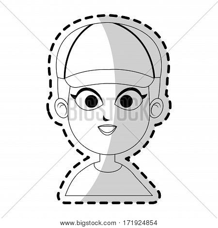 man with a cap over white background. vector illustration