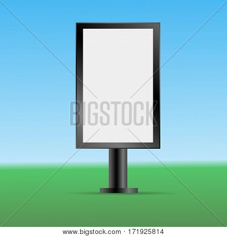 Mock Up Empty One Bilboard Vector Illustration Eps 10
