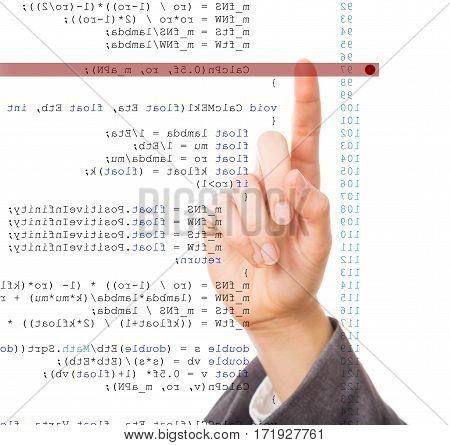 a programmer is debugging his code code is mirrored horizontally