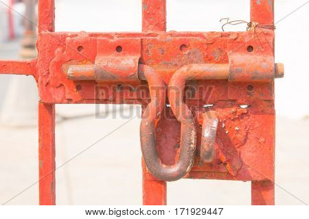 old hasp on a Steel door no locks