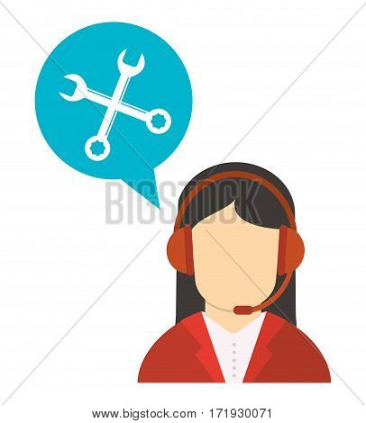 character working talk call center vector illustration eps 10
