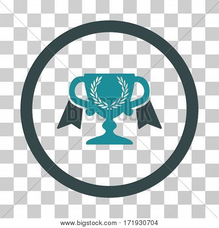 Award Cup vector icon. Illustration style is a flat iconic bicolor soft blue symbol on a transparent background.