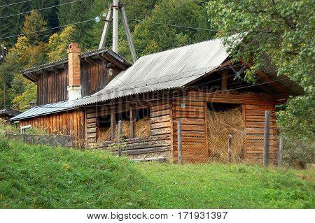 Hayloft In Barn