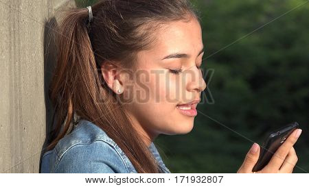 Angry Teen Girl Talking On Cell Phone