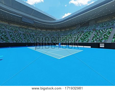 3D Render Of Beutiful Modern Tennis Grand Slam Lookalike Stadium