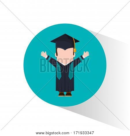 graduate student celebration happy vector illustration eps 10