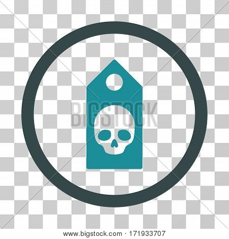 Death Coupon vector pictograph. Illustration style is a flat iconic bicolor soft blue symbol on a transparent background.