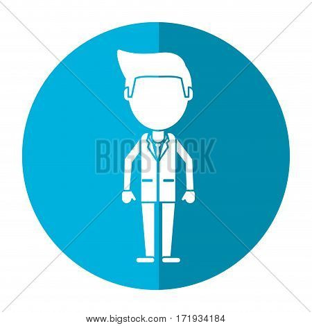 doctor staff medical hospital shadow vector illustration eps 10