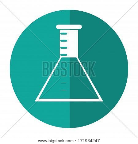 laboratory test tube chemisty shadow vector illustration eps 10