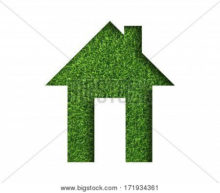 Green grass concept image of make your house.