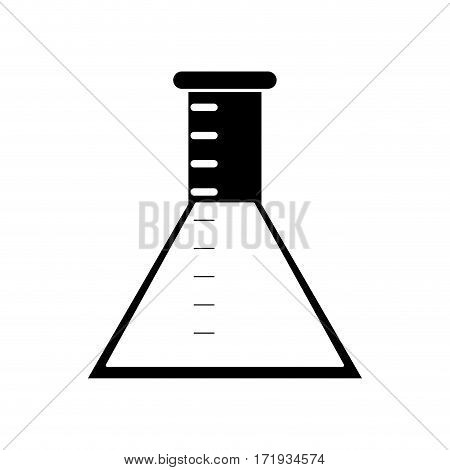 laboratory test tube chemisty pictogram vector illustration eps 10