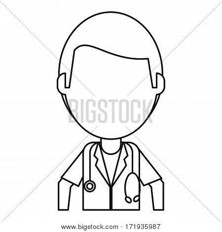 doctor medical  stethoscope thin line vector illustration eps 10