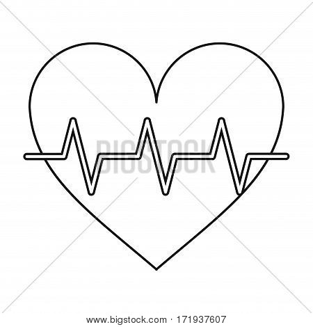 heart pulse rhythm cardio thin line vector illustration eps 10