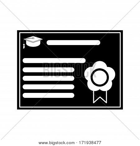 certificate diploma school pictogram vector illustration eps 10