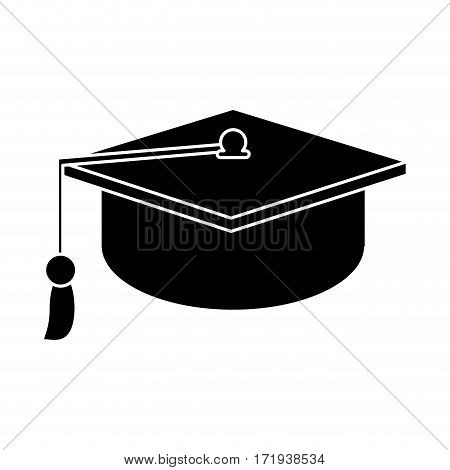 gaduation cap education symbol pictogram vector illustration eps 10