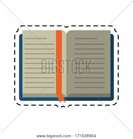 cartoon open book school learning library vector illustration eps 10