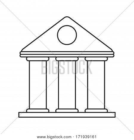 university building style temple thin line vector illustration eps 10
