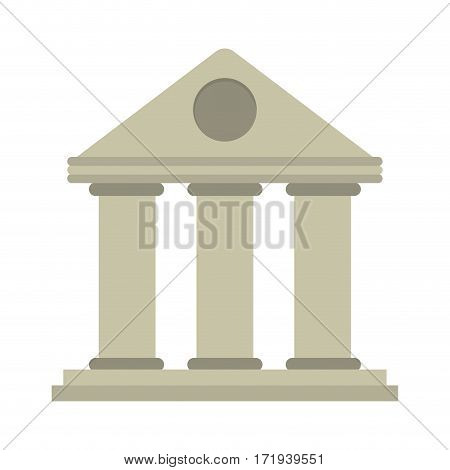 university building style temple vector illustration eps 10