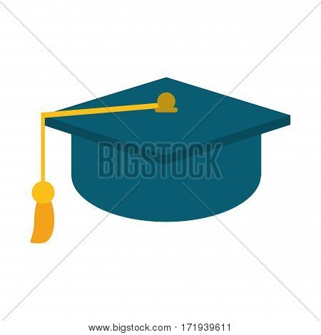 gaduation cap education symbol vector illustration eps 10
