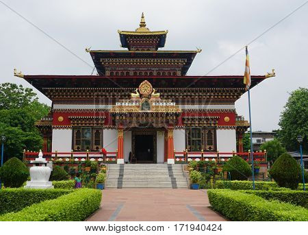 Traditional Bhutanese Temple In Bodhgaya, India