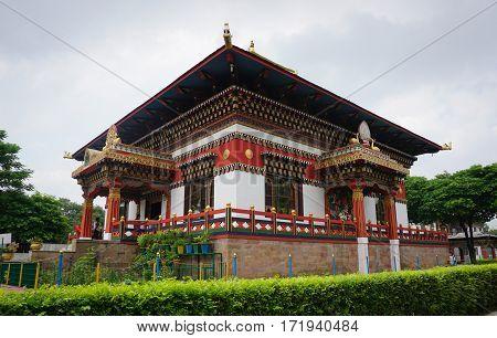 Traditional Bhutanese Temple In Bodhgaya, India