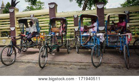 People On Street In Kolkata, India