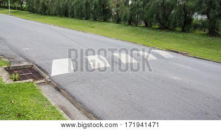 Bumps on the asphalt road transport background