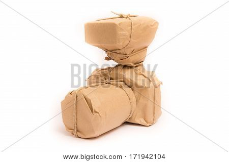 Photographic Equipment packed, isolated on white background