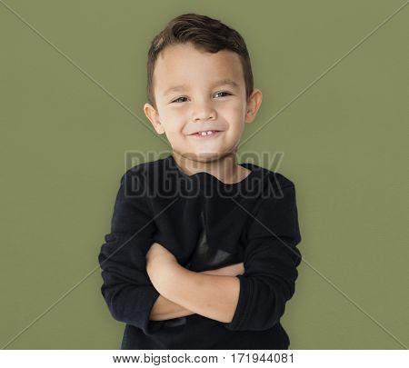 Little Boy Studio Portrait Concept