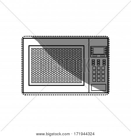 Microwave cookware equipment icon vector illustration graphic design