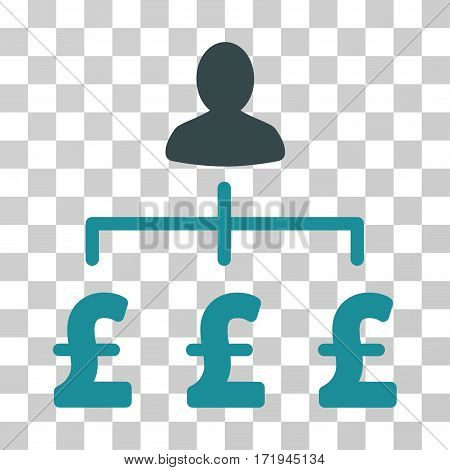 Pound Collector vector pictogram. Illustration style is a flat iconic bicolor soft blue symbol on a transparent background.