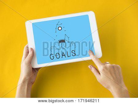 Goal Improvement Venture Aim Icon