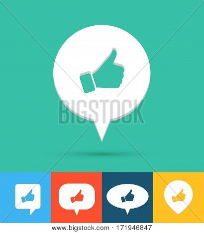 Social media creative colorful icon. Vector illustration.